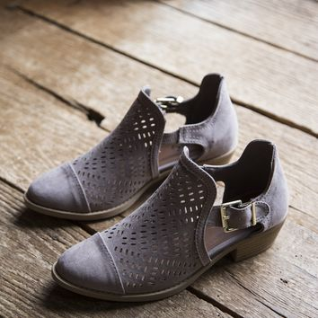 Sochi Perforated Bootie, Taupe