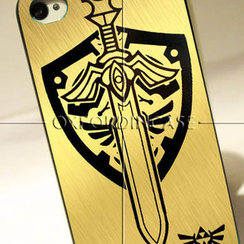 Zelda Master Sword Hylian Shield - for iPhone 4/4S case iPhone 5 case Samsung Galaxy S2/S3/S4 case hard case