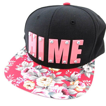 HIME - Pink and Red Adjustable Snapback Hat