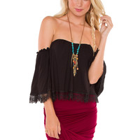 Renesme Lace Top - Black
