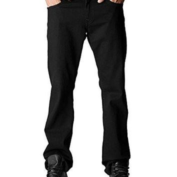 True Religion Men's Ricky Relaxed Fit Flap Pocket Jean In Midnight Black, Midnight Black, 40x34