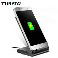 TURATA Wireless Charger , Fast Charge QI Wireless Charging Stand for Samsung Galaxy Note 5 / S7 / S7 Edge / S6 / S6 Edge
