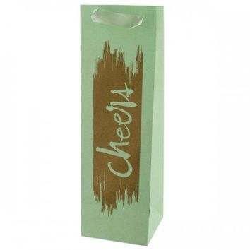 Cheers Gold Foil Bottle Gift Bag (pack of 24)