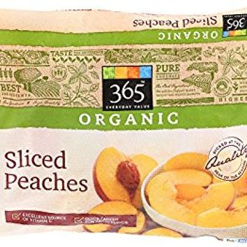 365 Everyday Value, Organic Sliced Peaches, 10 oz, (Frozen)