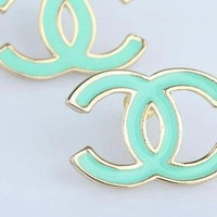 Turquoise Chanel Earrings