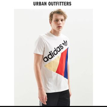 ADIDAS Tribe Men's Round Neck Short Sleeve T-Shirt Ueban Outfitters Panel Top