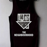 The Neighbourhood flower Black and White Tank top Women or Tank top Mens Unisex Size