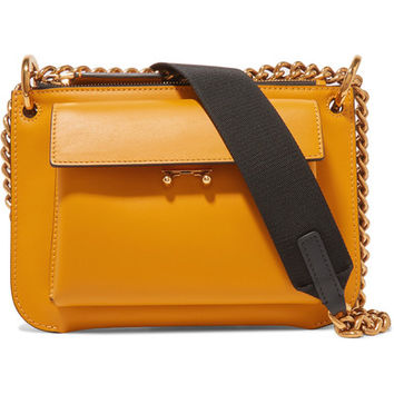 Marni - Pocket mini two-tone leather shoulder bag