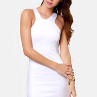 Flight of the Contours White Dress