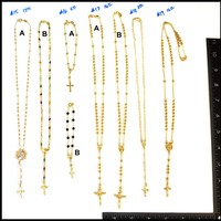 (PDF-GF-ROS-15-19) Gold Overlay Rosary Necklaces, 15-19