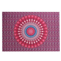 Indian Bohemian Mandala Tapestry ~Wall Hanging ~Sandy Beach Picnic Throw Rug Blanket  Black