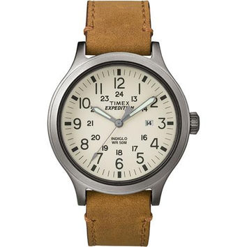 Timex Expedition&reg Scout 43 Watch - Natural Dial/Tan Leather