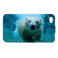 Polar Bear in Water Custom Case for iPhone 5/5s and iPhone 4/4s