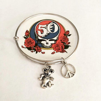 Grateful Dead Dancing Bear Charm Bracelet