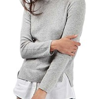 Topshop Ribbed Layered Sweater | Nordstrom