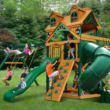 Gorilla Playsets Malibu Extreme Wooden Swing Set