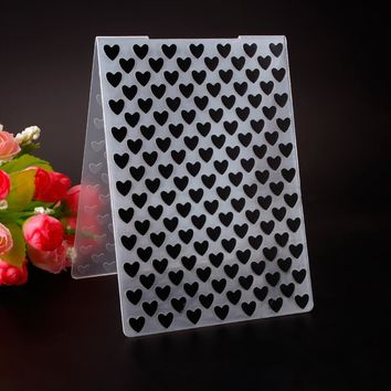 Plastic Embossing Folder Small Large Love Heart Template DIY Scrapbooking Card Making Decoration Papercraft #230599