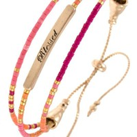 Blessed Layered Bracelet - Pink