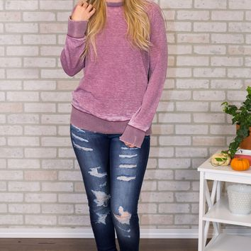 Anabel Burnout Sweatshirt - Multiple Options