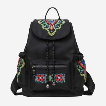 University College Backpack Chinese Style National Women Embroidered  Butterfly Bag Female Nylon Vintage Back Pack  Students School BagsAT_63_4