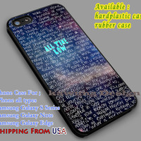 All Time Low Quote iPhone 6s 6 6s+ 5c 5s Cases Samsung Galaxy s5 s6 Edge+ NOTE 5 4 3 #music #atl dl5