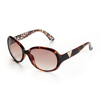 Guess Oval Leopard-Print Sunglasses