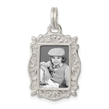 925 Sterling Silver Picture Frame Charm and Pendant