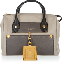 Marc by Marc Jacobs | Preppy Leather Pearl color-block tote | NET-A-PORTER.COM