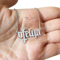 Cross Silver Name Nacklace, Cross Necklace, Name Necklace, Special Design Name Necklace, Sterling Silver Name Necklace, Christmas Gift