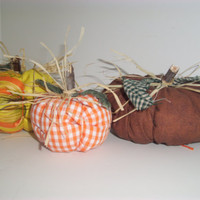FABRIC PUMPKINS Handmade, Fall Decor, Halloween, Home Decor, Home and Living, Trending Items,