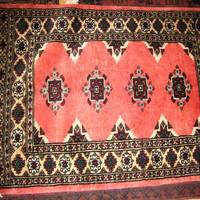 PERSIAN CARPET small rug oriental floral kilim baluch indian 2x3 hand knotted silk wool blend pakistani bedroom study pink green 300 kpsi