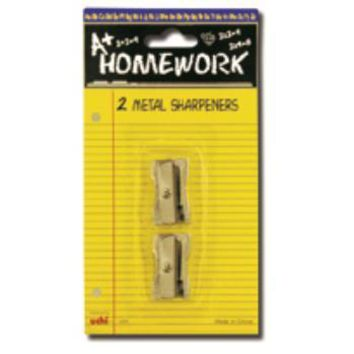 Metal Pencil Sharpeners- 2 pack Case Pack 48