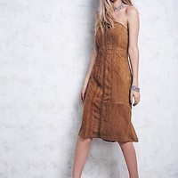 Free People Womens Rosa Suede Bodycon