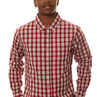 Obey Shirt Prospect Buttondown in Red
