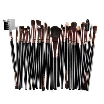 22Pcs/Set Makeup Brush Tools Make-up Toiletry Kit Wool Make Up BK