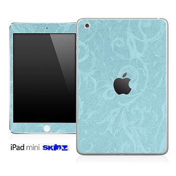 Subtle Blue Floral Lace Pattern Skin for the iPad Mini or Other iPad Versions