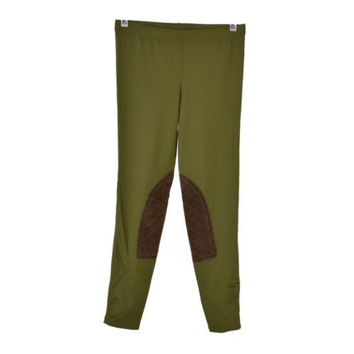 Ralph Lauren Rugby Olive Green Equestrian Style Stretch Leggings Pants Sz S