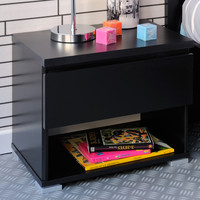 Parisot High Tek 1 Drawer Bedside Table
