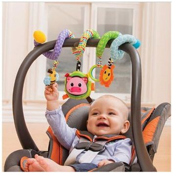 2017 Cute Infant Babyplay Baby Toys Activity Spiral Bed & Stroller Toy Set Hanging Bell Crib Rattle Toys For Baby