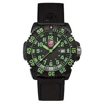 Luminox EVO Navy SEAL Colormark - Green Indicators - Double Pin Buckle Strap