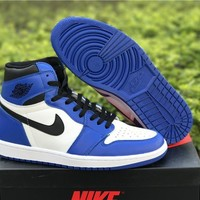 "Air Jordan 1 ""white/blue"" Size 40.5-47.5"