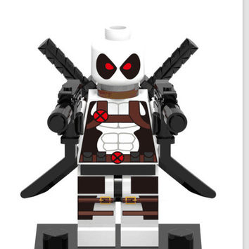189 White deadpool individual minifigure super hero compatible With Legoe