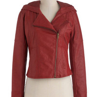 Jack by BB Dakota Hit the Bricks Jacket in Red | Mod Retro Vintage Jackets | ModCloth.com