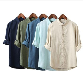 Sadie Linen Japanese Look Shirt