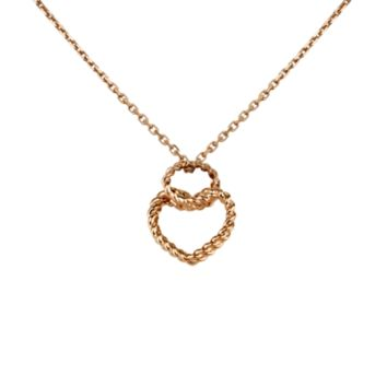 Cœur Torsadé de Cartier necklace with heart motif