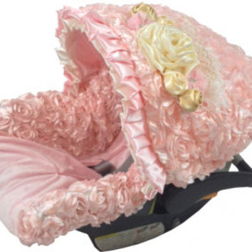 Baby Pink Infant Car Seat Cover Petal Covers