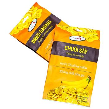 Dried Banana Mega A Vietnamese Fruit Chip Snack 100 or 200 gr