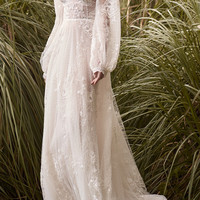 Embroidered Lace Ethereal Gown | Moda Operandi