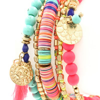 Life's a Party Multi Bead Bracelet Set
