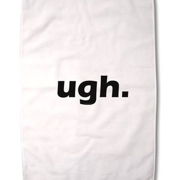 """ugh funny text Premium Cotton Sport Towel 16""""x25 by TooLoud"""